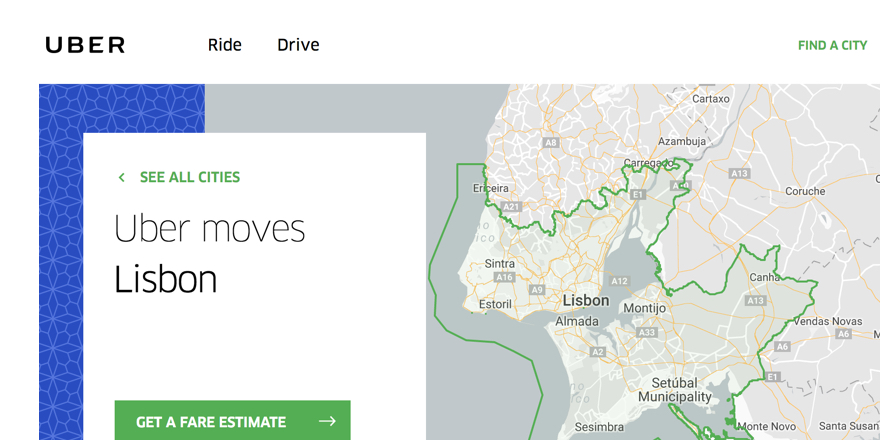 Uber vs Taxi in Lisbon