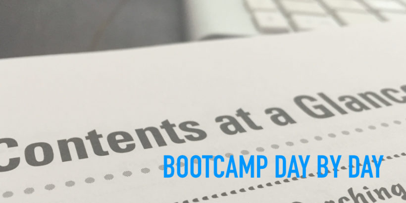 urbangay bootcamp: Day by Day