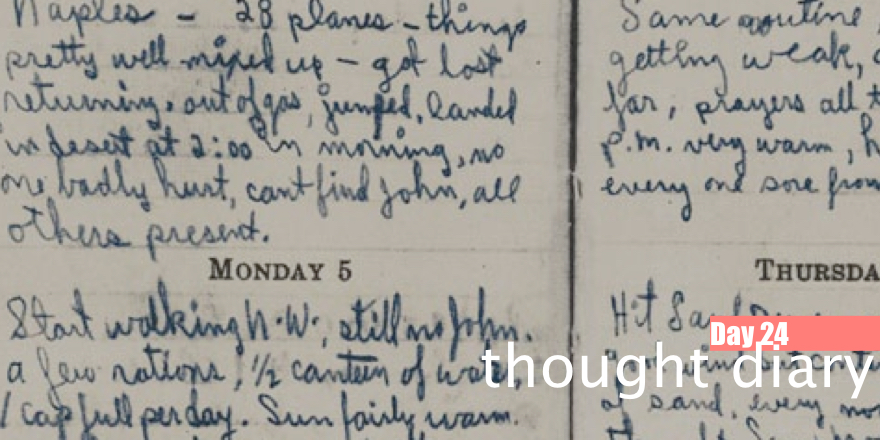 Day 24: Thought diary