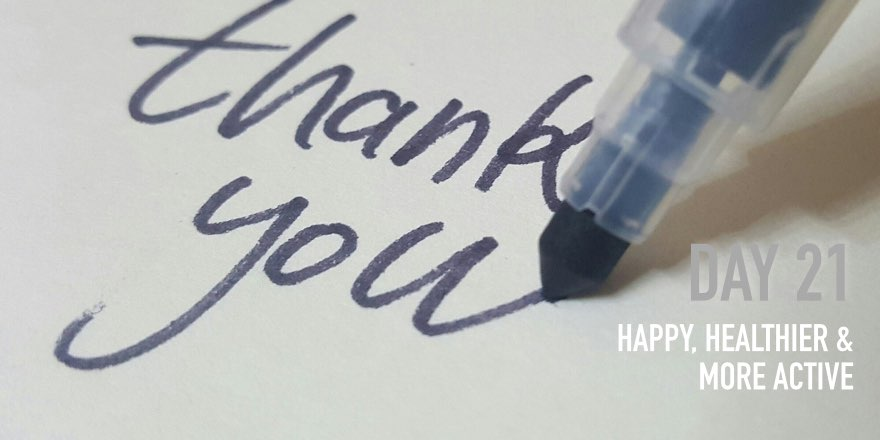 Day 21: Say Thank you! [Happy]